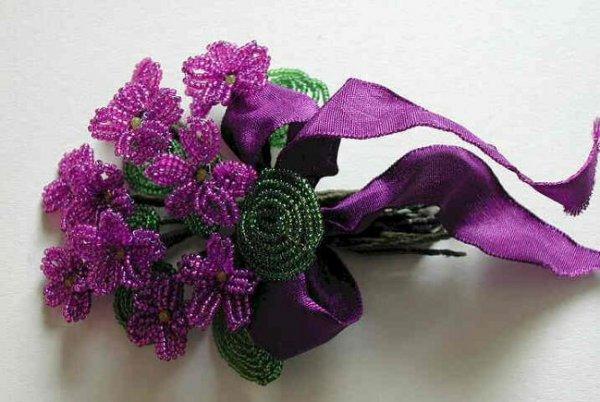 Цветы из бисера схема плетения своими руками ВКонтакте. где в киеве можно бесплатно поучиться.