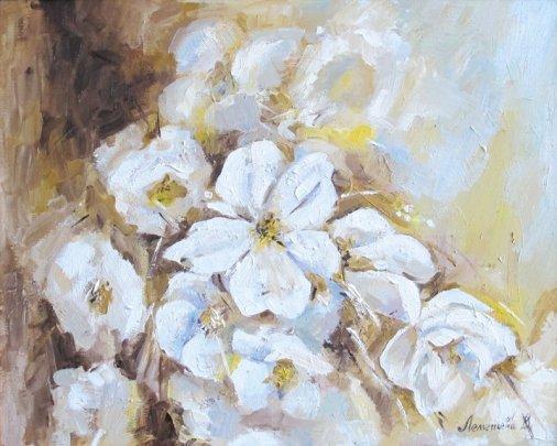 На благотворительном аукционе больше всего выросла в цене картина Виктории Лемешевой