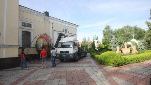Гігантська писанка стоятиме біля Преображенського храму
