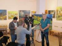 Сергій Дрига дає інтерв'ю
