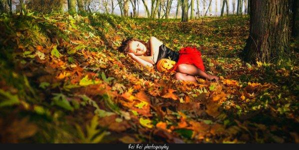 Лучики солнца, гранаты, тыквы, сладости и летучие мыши: Новая фотосессия от Маргариты Тищенко