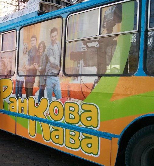 В Кіровограді з'явився телевізійний тролейбус