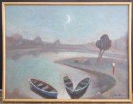 Ігор Смичек, 1953 р.н. Човни і місяць, 2009 60х80, полотно, олія ціна 4000