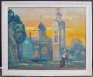 Андрій Надєждін, 1963 р.н. Біля церкви, 2012 45х55, полотно, олія ціна 3500