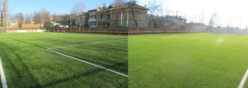 Зима тепла, тож ремонт спортивних споруд на Кіровоградщині триває