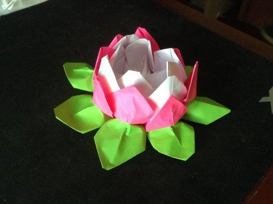 Квітка лотосу, зроблена з паперу на одному з майстер-класів