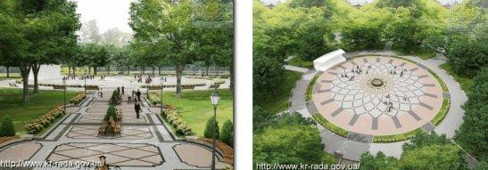 Новий вигляд центру парку - без Леніна