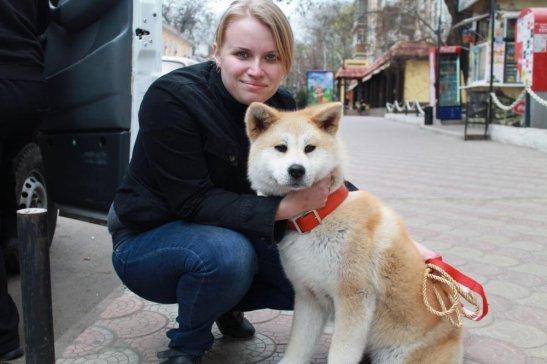 Мария Корнийчук и ее питомец