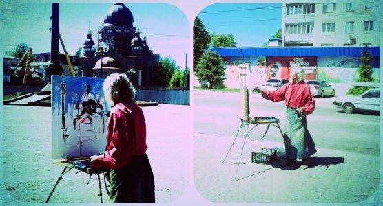 Сергій Шаповалов малює нову церкву