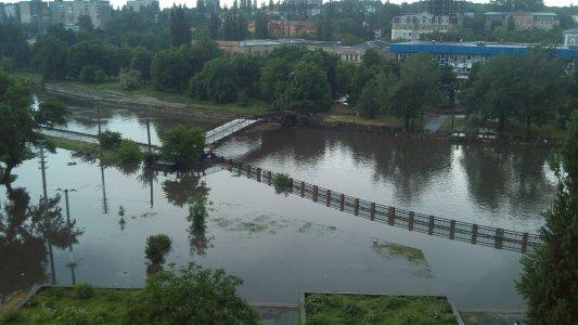 Кировоград вчера затопило