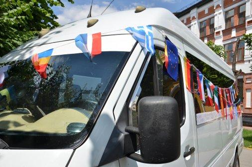 Євроавтобус стартував у шлях Україною із Кіровограду