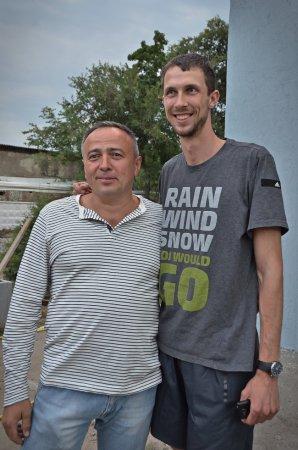 Геннадій Заболотний та відомий легкоатлет Богдан Бондаренко, автор фото - Олена Карпенко