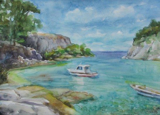Тиха бухта, блакитна гладінь, автор - Юрій Ботнар