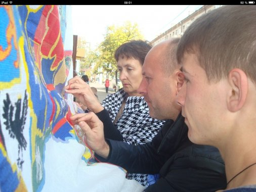 Найбільша вишита карта України: Кіровоградіі теж доклали рук