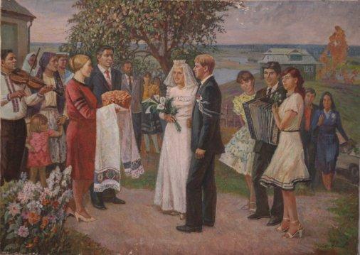 Пора свадеб десятки лет назад