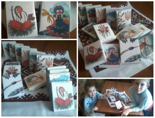 Патріотичний шоколад, оформлений ілюстраціями Олі Макаревич