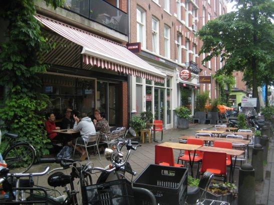 Літнє кафе в Амстердамі, фото - з сайту http://outerhop.com