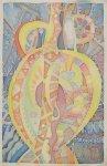 Ірина Зантарія «Абстрактна композиція», 2015  батік  розмір - 39,5х26 см стартова ціна - 350 грн.