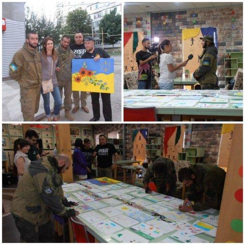 Аукціон дитячих малюнків зібрав для військових 2100 гривень!