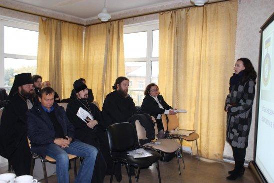 Тетяна Ткаченко виступає на семінарі у госпіталі
