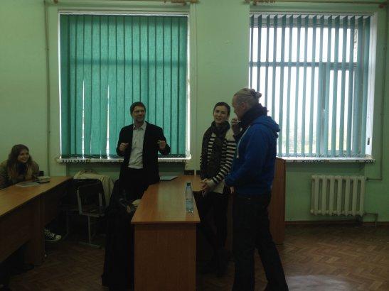 Йоханесс Стейнбах - Австрия, - Милана Алимова и студенты на встрече с Рами Колехмайнен - Финляндия