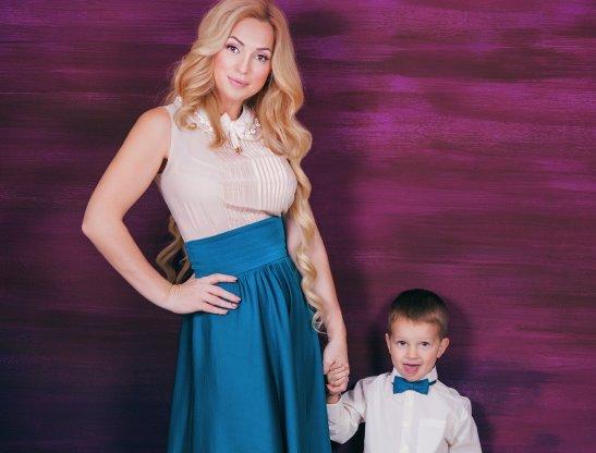 Наталья Клименкова с сыночком Андрюшей