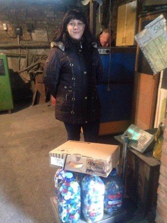 Олександра Харченко - зважування кришечок