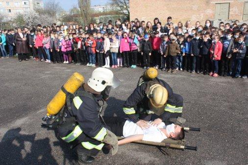 Як не стати винуватцем пожежі рятувальники розповідали дітям