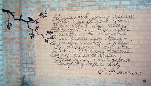 Стартував арт-проект «Поезія стін»