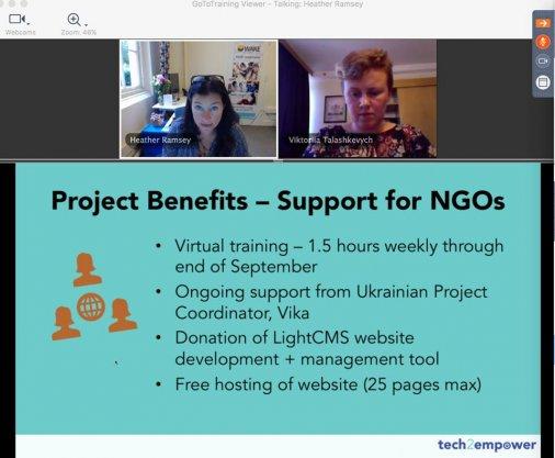 Нові веб-сайти робитимуть українські активістки - під керівництвом американських колег