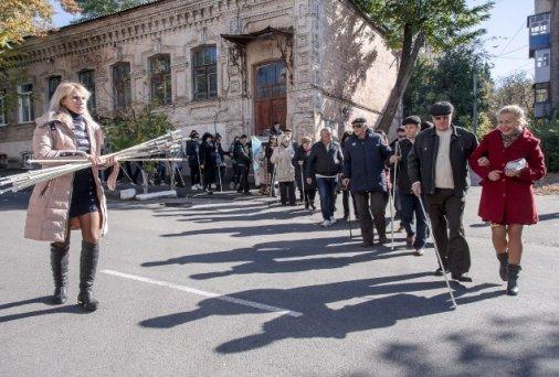 День Білої Тростини: Незрячі люди пройшли центром міста