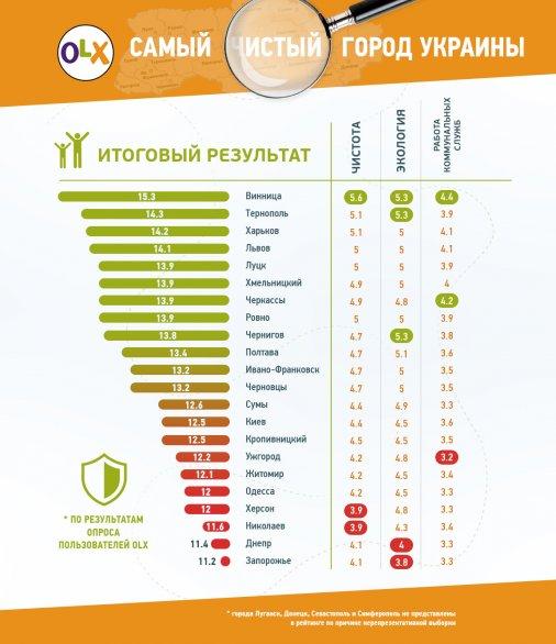 Украинцы считают Кропивницкий не самым чистым городом