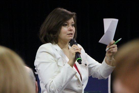 Олена Пристайко, виконавчий директор Українського Бюро зі зв'язків з науково-дослідними центрами у Брюсселі