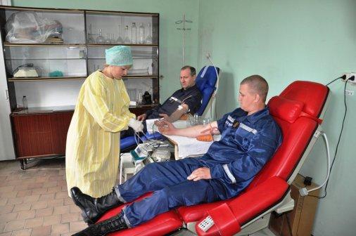 Рятувальники зробили внесок у банк крові