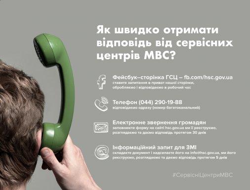 Як швидко отримати відповідь від сервісних центрів МВС?