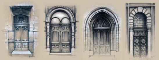 Якщо впізнаєте, що за будівлі мають такі двері, отримаємо листівки у подарунок!