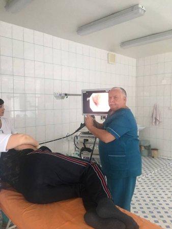 Олександр Болдурат в ендоскопічному відділенні