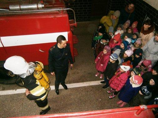 Вихованці дитсадка «Теремок» відвідали пожежну частину
