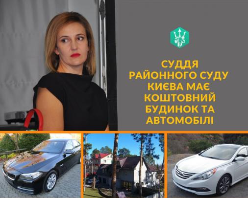 Київська суддя  має коштовний будинок та автомобілі