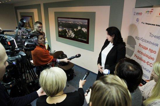 Коментарі журналістам дає Іванна Климпуш-Цинцадзе