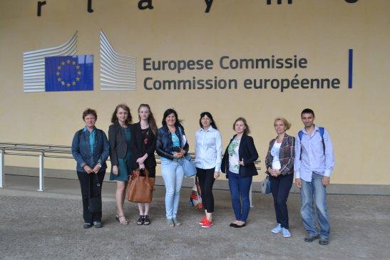 Журналісти-учасники візиту у Брюссель у рамках проекту «Точне відображення Угоди про асоціацію Україна-ЄС в українських медіа»