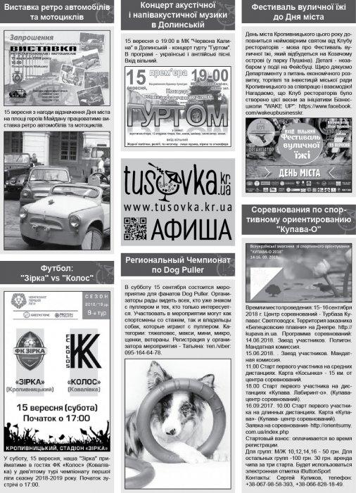Все про все у Кропивницькому