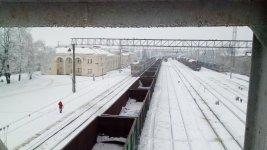 Вид на Бахмацький перон станції Помічна
