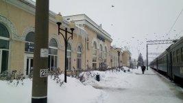Залізничний вокзал міста Помічна