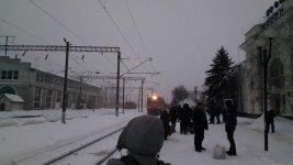 """електричка """"Олександрія - Помічна"""" на станції Кропивницький"""