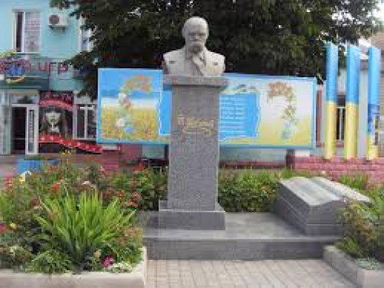 Пам'ятник Тарасу Шевченко у місті Подільськ