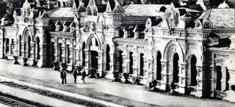 вокзал Коростеня на початку 20 століття - фото з сайту retroua.com