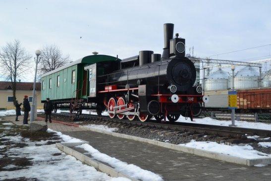 Вагон-музей на станції Фастів