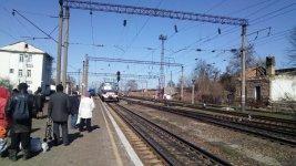 електричка Колосівка — Знам'янка прибуває на станцію Кропивницький