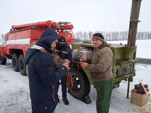 Кіровоградські рятувальники розгорнули польову кухню у місці відстою автотехніки